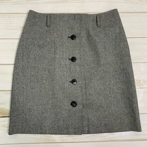 Grey button skirt gray by Ann Taylor